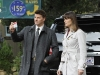 BONES:  Brennan (Emily Deschanel, R) and Booth (David Boreanaz, L) investigate the death of a man thought to be killed by a mythical Chupacabra in