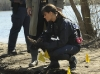 "BONES:  Brennan (Emily Deschanel, R) and Booth (David Boreanaz, L) investigate seven pairs of dismembered feet found washed ashore after a flood in ""The Feet on the Beach"" episode of BONES airing Thursday, April 7 (9:00-10:00 PM ET/PT) on FOX.  ©2011 Fox Broadcasting Co.  Cr:  Ray Mickshaw/FOX"