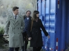 BONES:  Brennan (Emily Deschanel, R) and Booth (David Boreanaz, L) visit a university's body farm in