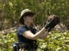 "BONES:  Brennan (Emily Deschanel) travels to the Florida everglades to investigate a case in the ""Finder"" episode of BONES airing Thursday, April 21 (9:00-10:00 PM ET/PT) on FOX.  ©2011 Fox Broadcasting Co.  Cr:  Glenn Watson/FOX"