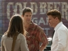 "BONES:  Brennan (Emily Deschanel, L) and Booth (David Boreanaz, R) enlist the help of Walter Sherman (guest star Geoff Stults, C) a professional locator, to help uncover some key evidence in the ""Finder"" episode of BONES airing Thursday, April 21 (9:00-10:00 PM ET/PT) on FOX.  ©2011 Fox Broadcasting Co.  Cr:  Glenn Watson/FOX"