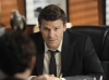 BONES:  Booth (David Boreanaz) talks with Sweets in