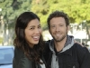 BONES:  Parents-to-be Hodgins (TJ Thyne, R) and Angela (Michaela Conlin, L) in