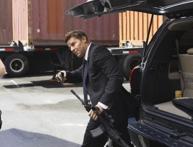 Booth (David Boreanaz) is determined to catch sniper-on-the-loose Jacob Broadsky