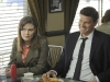 BONES:  Brennan (Emily Deschanel, L) and Booth (David Boreanaz, R) meet with Max to discuss an undercover assignment in