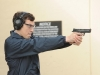 BONES:  Daisy (guest star Carla Gallo, L) helps Sweets (John Francis Daley, R) prepare for his gun certification test in