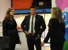 BONES:  Brennan (Emily Deschanel, L) and Booth (David Boreanaz, C) question the CEO of a toy company (guest star Morgan Fairchild, R) in