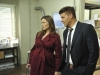 BONES:  Brennan (Emily Deschanel, L) and Booth (David Boreanaz, R) investigate a local ship 'n' print store in