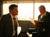 BONES:  Booth's (David Boreanaz, L) grandfather (guest star Ralph Waite, R) breaks some unexpected news to him in