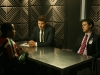 BONES:  Booth (David Boreanaz, C) and Sweets (John Francis Daley, R) interview a suspect (guest star Wayne Wilderson, L) in