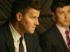 BONES:  Booth (David Boreanaz, L) and Sweets (John Francis Daley, R) interrogate a suspect in