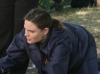 BONES:  Brennan (Emily Deschanel, R) and Booth (David Boreanaz, L) investigate the murder of a
