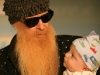 BONES:  Angela's father Billy F. Gibbons (as himself) with his grandson in