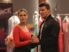 """BONES:  Brennan (Emily Deschanel, R) and Booth (David Boreanaz, L) reprise their Buck and Wanda Moosejaw characters when they go undercover on a ballroom dancing television competition in the """"The Diamond in the Rough"""" episode of BONES, the first of a special two-hour episode,  airing Monday, Jan. 14 (8:00-9:00 PM ET/PT) on FOX.  ©2012 Fox Broadcasting Co.  Cr:  Patrick McElhenney/FOX"""