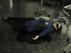 BONES:  Brennan (Emily Deschanel) is shot while working late at the Jeffersonian lab in the