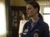 BONES:  Brennan (Emily Deschanel, R) finds herself in a position that defies her usual logic in the