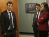 """BONES:  L-R:  Sweets (John Francis Daley), Booth (David Boreanaz) and Brennan (Emily Deschanel) interview a young girl who reveals she was raped in the """"The Friend in Need"""" episode of BONES airing Monday, Feb. 18 (8:00-9:00 PM ET/PT) on FOX.  ©2013 Fox Broadcasting Co. Cr: John Johnson/FOX"""