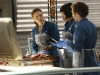 BONES:  L-R:  Brennan (Emily Deschanel), Cam (Tamara Taylor) and Hodgins (TJ Thyne) investigate remains found in a suitcase in the