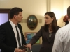 BONES:  Brennan (Emily Deschanel, R) and Booth (David Boreanaz, L) investigate the death of a young immigrant from Sierra Leone in the