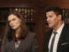 BONES:  Brennan (Emily Deschanel, L) and Booth (David Boreanaz, R) interview an immigration lawyer in the