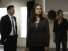 BONES:  With hopes of finding a lead to the murderer in their case, Booth (David Boreanaz, L) and Brennan (Emily Deschanel, C) view photographs on display at an art gallery which depict chilling images of the victims' childhood in Sierra Leone in the