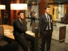 BONES:  Booth (David Boreanaz, L) and Sweets (John Francis Daley, R) review possible suspects in their case in the