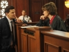 BONES:  Booth (David Boreanaz, L) questions Judge Trudy (guest star Gina Hecht, R), when a producer on her show is found murdered in the