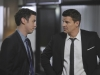 BONES:  Sweets (John Francis Daley, L) helps Booth (David Boreanaz, R) track down the killer of a successful stock broker in the