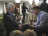 BONES:  Booth (David Boreanaz, R) gets to know his mother's new husband (guest star Robert Pine, L) in the