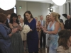 BONES:  Brennan (Emily Deschanel, second from R) catches the bouquet at Booth's mother's wedding in the