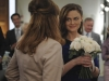 BONES:  Brennan (Emily Deschanel, R) shares a special moment with Booth's mother (guest star Joanna Cassidy, L) in the