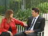 BONES:  Booth (David Boreanaz, R) has a heart-to-heart talk with his mother (guest star Joanna Cassidy, L) in the