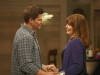 BONES:  Booth (David Boreanaz, L) reconneces with his mother (guest star Joanna Cassidy, R) in the