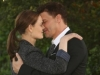 BONES: Brennan (Emily Deschanel, L) and Booth (David Boreanaz, R) discuss the future of their relationship in the