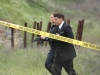BONES: Brennan (Emily Deschanel, L) and Booth (David Boreanaz, R) investigate a the murders of several FBI agents with whom Booth was close in the