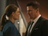 BONES: Brennan (Emily Deschanel, L) worries about Booth (David Boreanaz, R) when they investigate the murders of several FBI agents with whom Booth was close in the