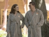 "BONES:  Brennan (Emily Deschanel, L) and Booth (David Boreanaz, R) go undercover at a marriage retreat as previous personas ""Roxie"" and ""Tony""  in the ""The Cheat in the Retreat"" episode of BONES airing Monday, Sept. 23 (8:00-9:00 PM ET/PT) on FOX. ©2013 Fox Broadcasting Co. Cr:  Patrick McElhenney/FOX"