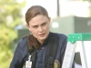 "BONES:  Brennan (Emily Deschanel) investigates remains that were found being eaten by bobcats in the ""The Cheat in the Retreat"" episode of BONES airing Monday, Sept. 23 (8:00-9:00 PM ET/PT) on FOX. ©2013 Fox Broadcasting Co. Cr: Patrick McElhenney/FOX"