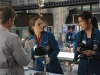 "BONES:  Brennan (Emily Deschanel, C), Angela (Michaela Conlin, R) and Jeffersonian intern Wendell Bray (guest star Michael Grant Terry, L) investigate burnt remains in the ""El Carnicero en el Coche"" episode of BONES airing Monday, Sept. 23 (8:00-9:00 PM ET/PT) on FOX.  ©2013 Fox Broadcasting Co.  Cr:  Ray Mickshaw/FOX"