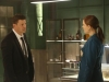 "BONES:  Brennan (Emily Deschanel, R) and Booth (David Boreanaz, L) discuss old cases that may be tied to the recent murder of an FBI Agent in the ""The Sense in the Sacrifice"" episode of BONES airing Monday, Oct. 7 (8:00-9:00 PM ET/PT) on FOX.  ©2013 Fox Broadcasting Co.  Cr:  Patrick McElhenney/FOX"