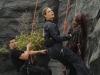 "BONES:  Brennan (Emily Deschanel, R) and Booth (David Boreanaz, L) rappel down a cliff to investigate remains in the ""The Lady on the List"" episode of BONES airing Monday, Oct. 14  (8:00-9:00 PM ET/PT) on FOX.  ©2013 Fox Broadcasting Co.  Cr:  Ray Mickshaw/FOX"