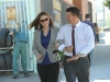 "BONES:  After learning about the bucket list of the murder victim in their current case, Brennan (Emily Deschanel, L) and Booth (David Boreanaz, R) discuss what is on their personal bucket lists in the ""The Lady on the List"" episode of BONES airing Monday, Oct. 14  (8:00-9:00 PM ET/PT) on FOX.  ©2013 Fox Broadcasting Co.  Cr:  Ray Mickshaw/FOX"