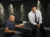 "BONES:  Booth (David Boreanaz, R) interviews Chuck ""The Iceman"" Liddell (guest-starring as himself, L) in the ""The Lady on the List"" episode of BONES airing Monday, Oct. 14  (8:00-9:00 PM ET/PT) on FOX.  ©2013 Fox Broadcasting Co.  Cr:  Ray Mickshaw/FOX"