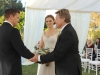 "BONES: Max (guest star Ryan O'Neal, R) gives away the bride at Brennan (Emily Deschanel, C) and Booth's (David Boreanaz, L) wedding in the ""The Woman in White"" episode of BONES airing Monday, Oct. 21 (8:00-9:00 PM ET/PT) on FOX.  ©2013 Fox Broadcasting Co.  Cr:  Ray Mickshaw/FOX"
