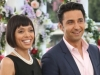 "BONES:  Cam (Tamara Taylor, L) and Jeffersonian intern Arastoo Vaziri (guest star Pej Vahdat, R) attend Brennan and Booth's wedding in the ""The Woman in White"" episode of BONES airing Monday, Oct. 21 (8:00-9:00 PM ET/PT) on FOX.  ©2013 Fox Broadcasting Co.  Cr:  Patrick McElhenney/FOX"