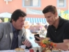 "BONES:  While on his honeymoon in Buenos Aires, Booth (David Boreanaz, R) takes on a case and works with local detective Raphael Valenza (guest star Joaquim De Almeida, L) in the ""The Nazi on the Honeymoon"" episode of BONES airing Monday, Nov. 4 (8:00-9:00 PM ET/PT) on FOX.  ©2013 Fox Broadcasting Co.  Cr:  Ray Mickshaw/FOX"