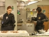 "BONES: Brennan (Emily Deschanel, L) and Cam (Tamara Taylor, R) investigate remains that were tossed in a meat grinder and mixed into cans of stew served in a school cafeteria in the ""The Mystery in the Meat"" episode of BONES airing Friday, Nov. 22 (8:00-9:00 PM ET/PT) on FOX. ©2013 Fox Broadcasting Co.  Cr: Patrick McElhenney/FOX"