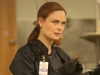 "BONES: Brennan (Emily Deschanel) investigates remains that were tossed in a meat grinder and mixed into cans of stew served in a school cafeteria in the ""The Mystery in the Meat"" episode of BONES airing Friday, Nov. 22 (8:00-9:00 PM ET/PT) on FOX. ©2013 Fox Broadcasting Co.  Cr: Patrick McElhenney/FOX"