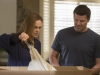"BONES:  A package filled with remains is delivered to Brennan (Emily Deschanel, L) and Booth's (David Boreanaz, R) home in the ""The Ghost in the Killer"" episode of BONES airing Friday, Jan. 10 (8:00-9:00 PM ET/PT) on FOX.  ©2013 Fox Broadcasting Co.  Cr:  Jennifer Clasen/FOX"