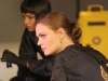 "BONES:  Cam (Tamara Taylor, L) and Brennan (Emily Deschanel, R) investigate a crime scene in a parking garage in the ""The Master in the Slop"" episode of BONES airing Friday, Jan. 24 (8:00-9:00 PM ET/PT) on FOX.  ©2013 Fox Broadcasting Co.  Cr:  Patrick McElhenney/FOX"